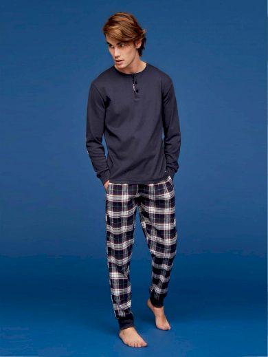 Pánské pyžamo FC2067AB tmavěmodrá - Noidinotte