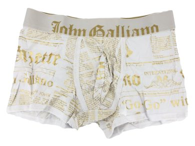 Pánské boxerky H095 bílá - John Galliano