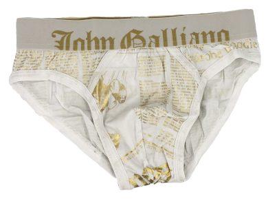 Pánské slipy H095 bílá - John Galliano