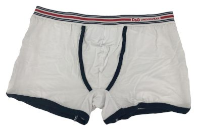 Pánské boxerky DGFBM30564 bílá s pruhama - Dolce & Gabbana