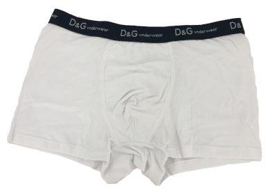 Pánské boxerky O1145 bílá s páskem - Dolce & Gabbana