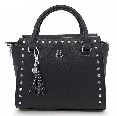 Dámská černá kufříková kabelka se cvočky i LULU CASTAGNETTE