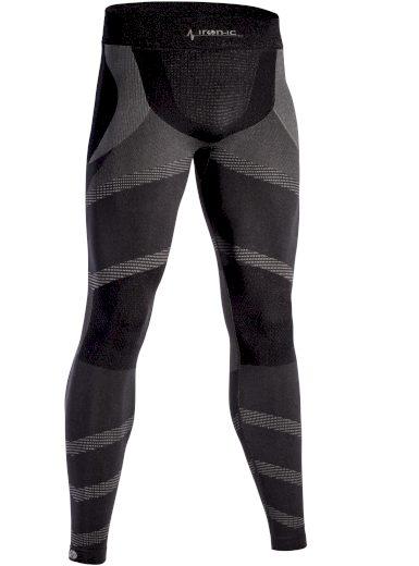 Dlouhé pánské funkční kalhoty IRON-IC - černo-šedá Barva: Černá, Velikost: