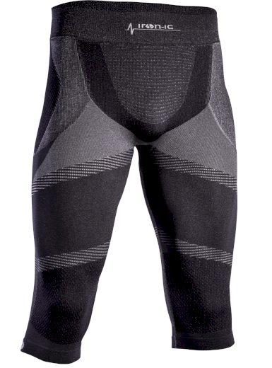 Pánské 3/4 funkční kalhoty IRON-IC - černá Barva: Černá, Velikost: