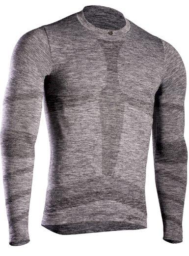 Pánské termo triko s dlouhým rukávem IRON-IC (fleece) - šedá Barva: Šedá-IRN, Velikost: