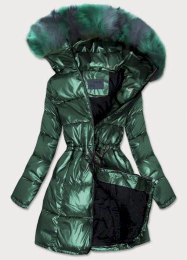 Zelená metalická dámská zimní bunda - Gemini