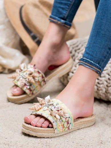 Praktické vícebarevné  nazouváky dámské bez podpatku