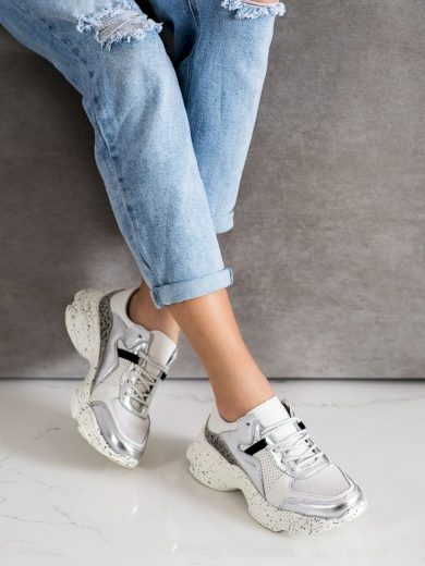Originální bílé dámské  tenisky bez podpatku