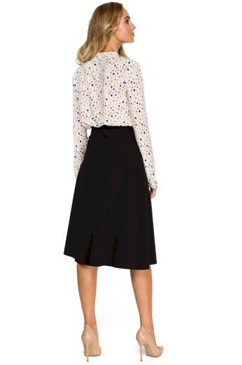 Dámská elegantní áčková sukně černá - Černá - Stylove