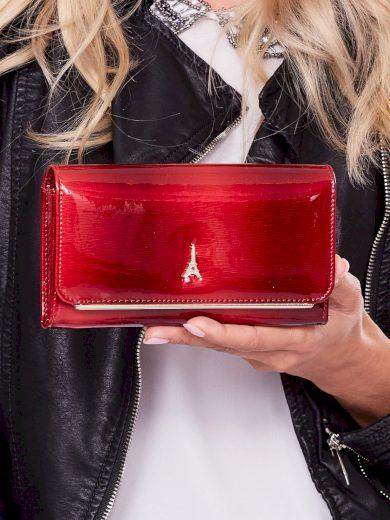 Lakovaná červená peněženka z přírodní kůže 74110 - FPrice