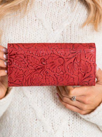 Červená kožená peněženka se vzory 72401-KCR - FPrice