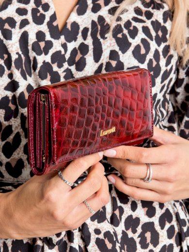 Lakovaná peněženka červená 72401-PT - FPrice