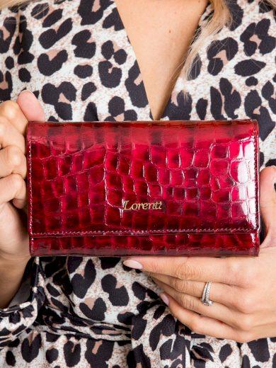 Peněženka ve zvířecích červených vzorech 64003 - FPrice