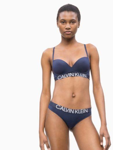 Dámská podprsenka QF5182E-8SB tmavě modrá - Calvin Klein