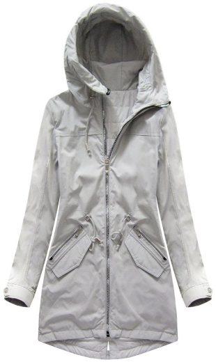 Oboustranná šedá bunda s kapucí (W0230)