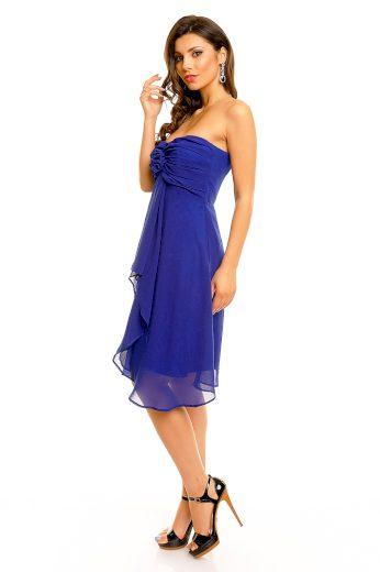 Dámské společenské značkové šaty MAYAADI středně dlouhé tmavě modré - Tmavě modrá - MAYAADI