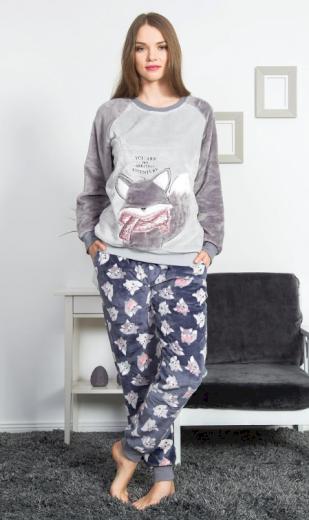 Dámské pyžamo dlouhé Liška - Vienetta