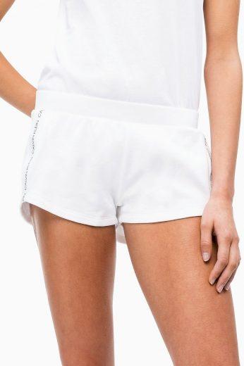 Dámské plážové šortky KW0KW00700-143 bílá - Calvin Klein