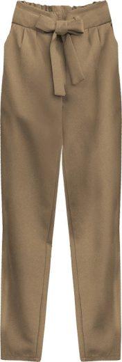 Kalhoty chino v karamelové barvě s páskem (295ART)