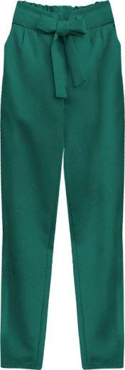 Zelené kalhoty chino s páskem (295ART)