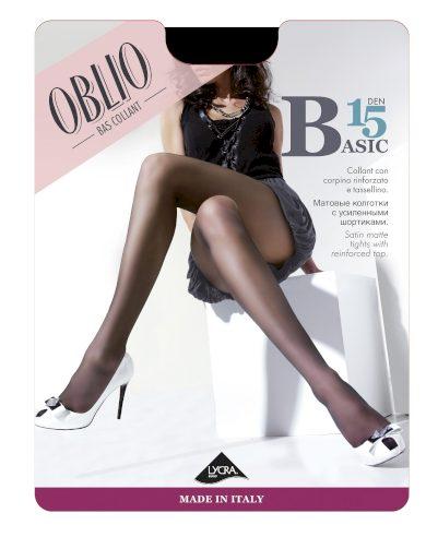 Punčochové kalhoty Oblio Basic 15 den 5XXL