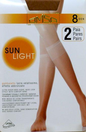 Dámské podkolenky Omsa  Sun Light 8 den A`2