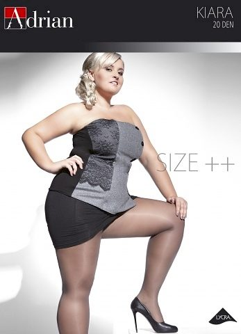 Dámské punčochové kalhoty Adrian Kiara Size++ 20 den 7-8XL