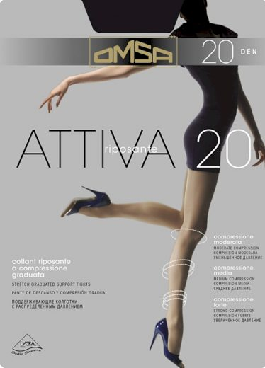 Dámské punčochové kalhoty Omsa Attiva 20 den XXL
