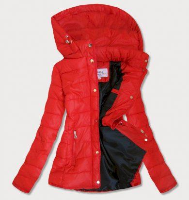 Červená dámská prošívaná bunda (W351)