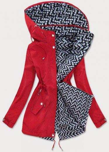 Červená dámská oboustranná bunda (W662BIG)