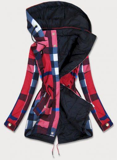 Červeno-černá dámská oboustranná bunda (W655BIG)