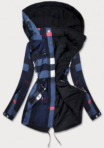 Tmavě modrá oboustranná dámská bunda (W655BIG)