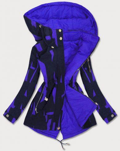 Oboustranná tmavě modro-světle modrá dámská bunda parka (W652)