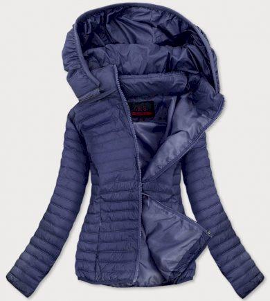 Tmavě modrá tenká dámská prošívaná bunda (B11-2)