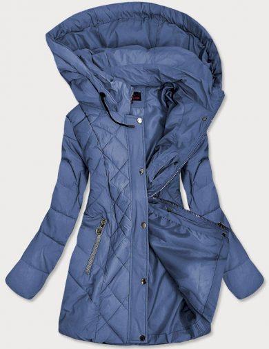 Světle modrá prošívaná dámská bunda (2025-1)