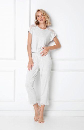 Dámské pyžamo Aruelle Cathleen Long kr/r XS-2XL