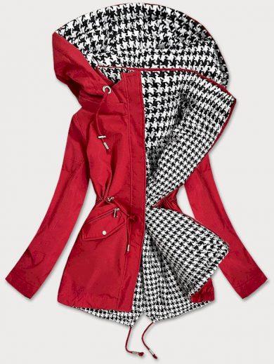 Červeno-bílá oboustranná dámská bunda (XW503X)