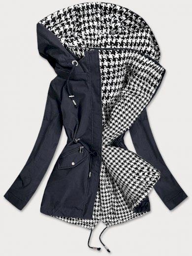Tmavě modro-bílá oboustranná dámská bunda (XW503BIGX)