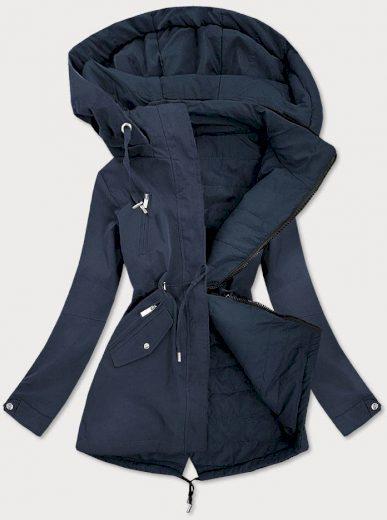 Tmavě modrá oboustranná dámská bunda (W505)
