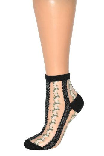 Dámské ponožky Magnetis 13534 Ažurové, květy
