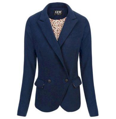 Tmavě modré sako ve stylu