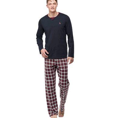 Pánské pyžamo 00-15-7396-102 tmavě šedá - Vamp