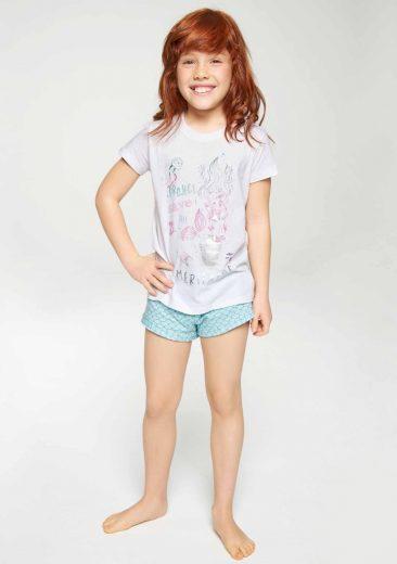 Dívčí pyžamo Muydemi 620034 2 Bílá