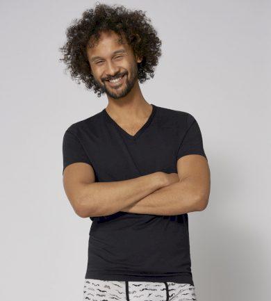 Pánské tričko T-SHIRT SLOGGI MEN GO SHIRT V-NECK REGULAR