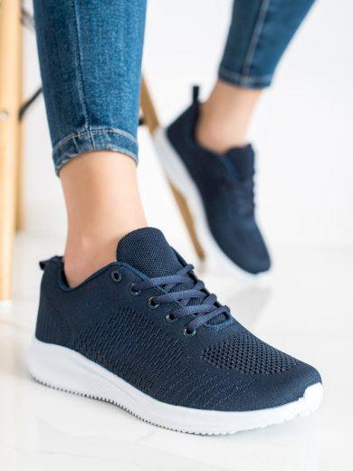 Praktické modré dámské  tenisky bez podpatku
