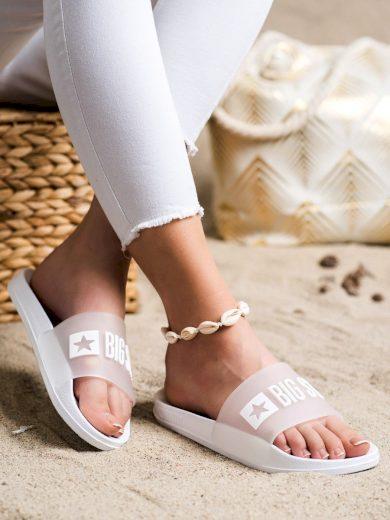 Pohodlné  nazouváky bílé dámské bez podpatku