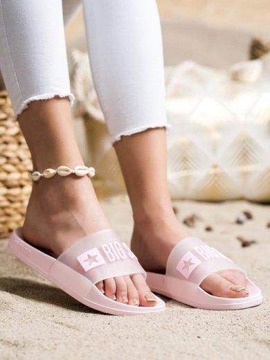 Výborné dámské  nazouváky růžové bez podpatku
