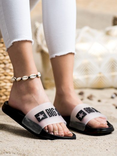 Klasické černé  nazouváky dámské bez podpatku