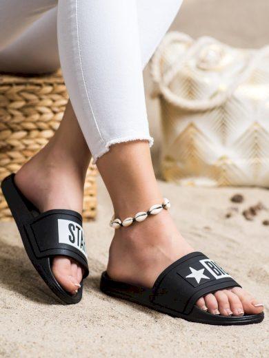 Klasické dámské  nazouváky černé bez podpatku