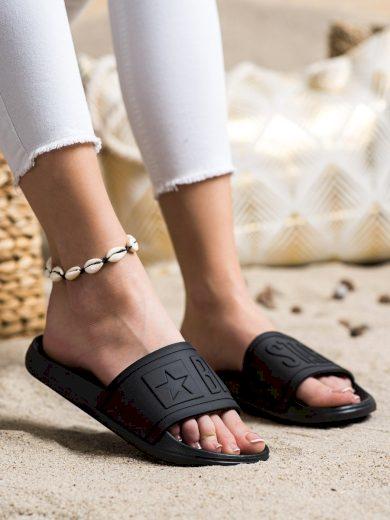 Praktické  nazouváky dámské černé bez podpatku